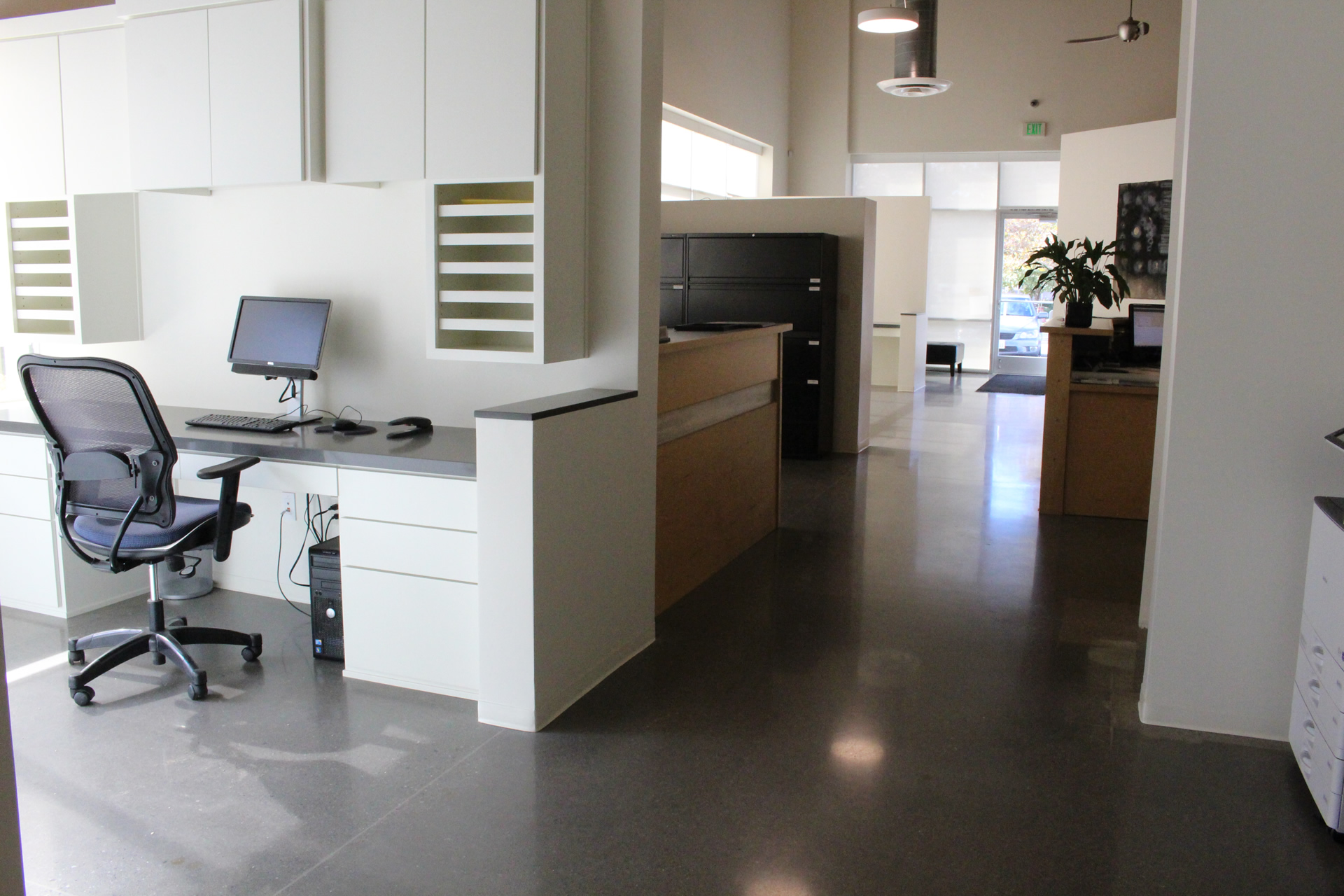 Polished Concrete Flooring By Bac At An Office Polished