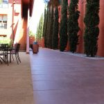 exterior concrete patio by Bay Area Concretes