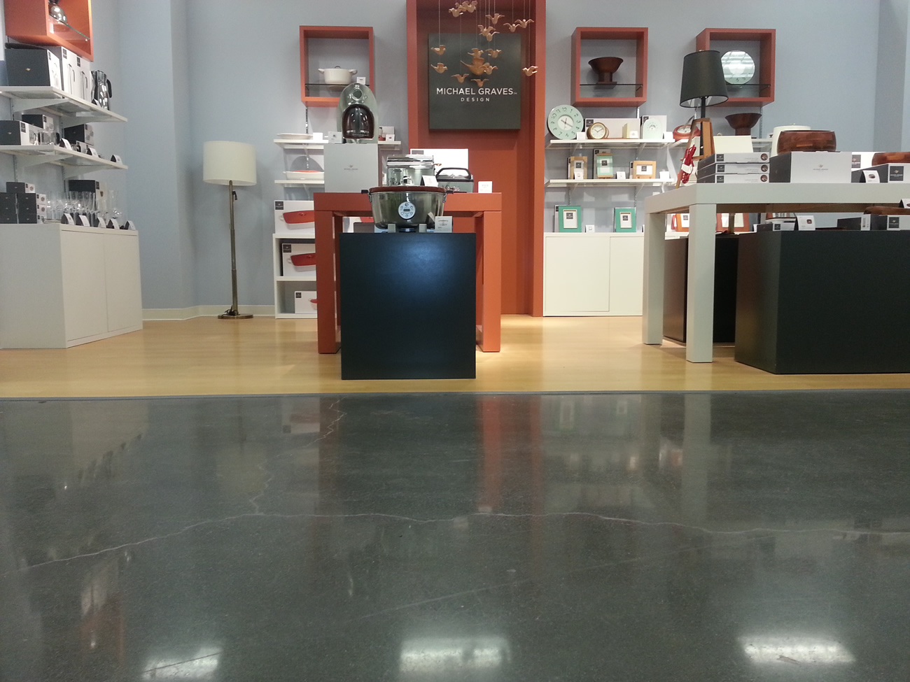Polished Concrete Floor At A Retail Store Polished