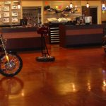 Polished Concrete Floor at Harley Davidson by Bay Area Concretes