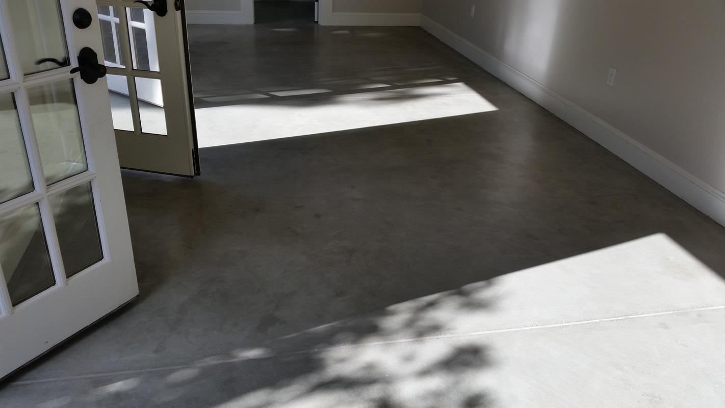 Polished Concrete Floor at a Residence - Polished