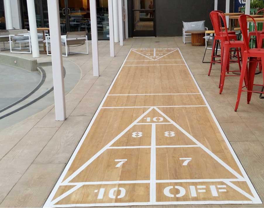 Interior Concrete flooring by Bay Area Concretes at Hotel Zephyr