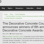 Decorative Concrete awards competition
